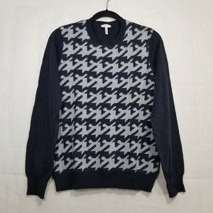 Joie houndstooth sweater charcoal sz M wool blend
